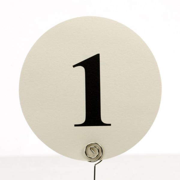 Ivory Round Table Numbers (12)